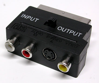 SCART - SVHS + RCA (3 гн) IN/OUT переходник