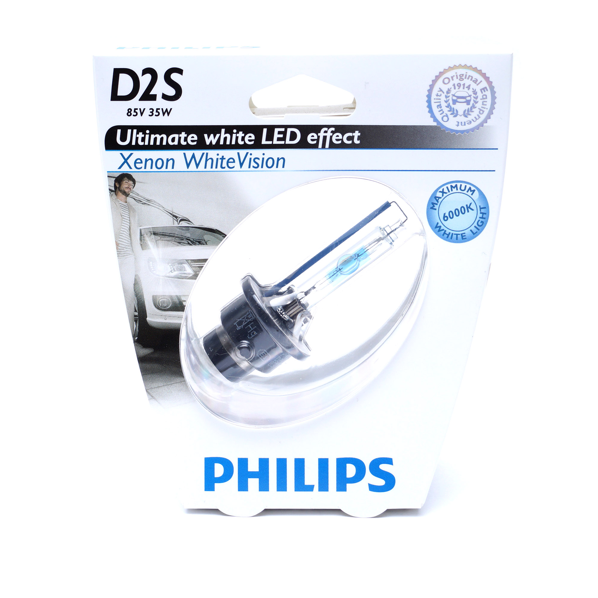 Автолампа ксенона D2S 85V 35W WhiteVision (Philips)